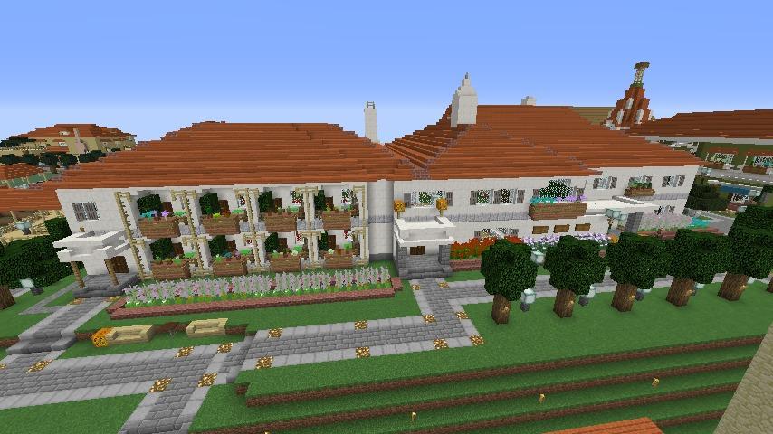 Minecrafterししゃもがマインクラフトでぷっこ村にイギリス館を建てて紹介する9