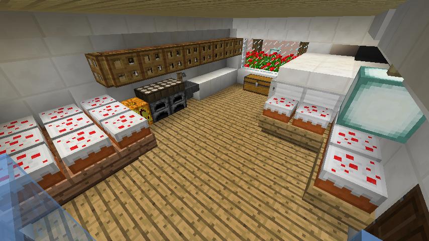 Minecrafterししゃもがマインクラフトでぷっこ村にイギリス館を建てて紹介する15