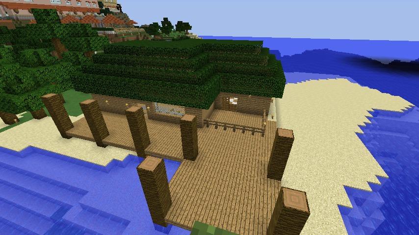 Minecrafterししゃもがマインクラフトで海辺の別荘をリフォームする2