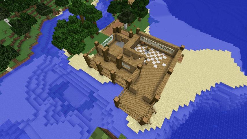 Minecrafterししゃもがマインクラフトで海辺の別荘をリフォームする3