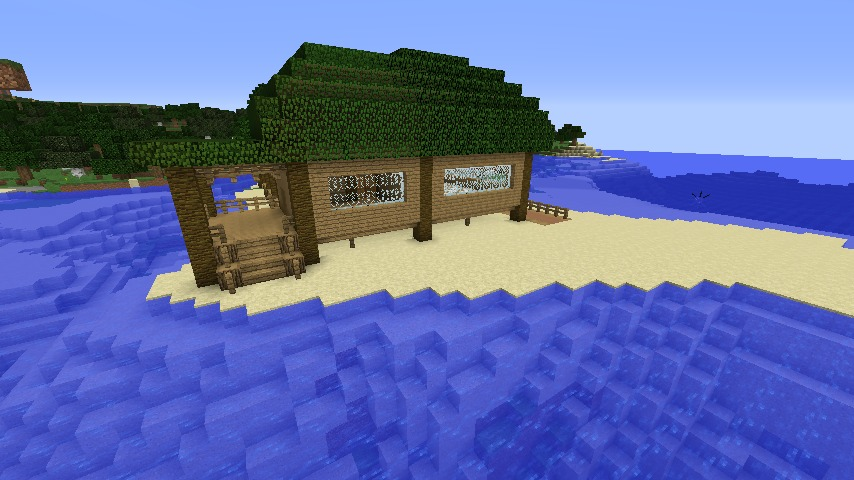 Minecrafterししゃもがマインクラフトで海辺の別荘をリフォームする5