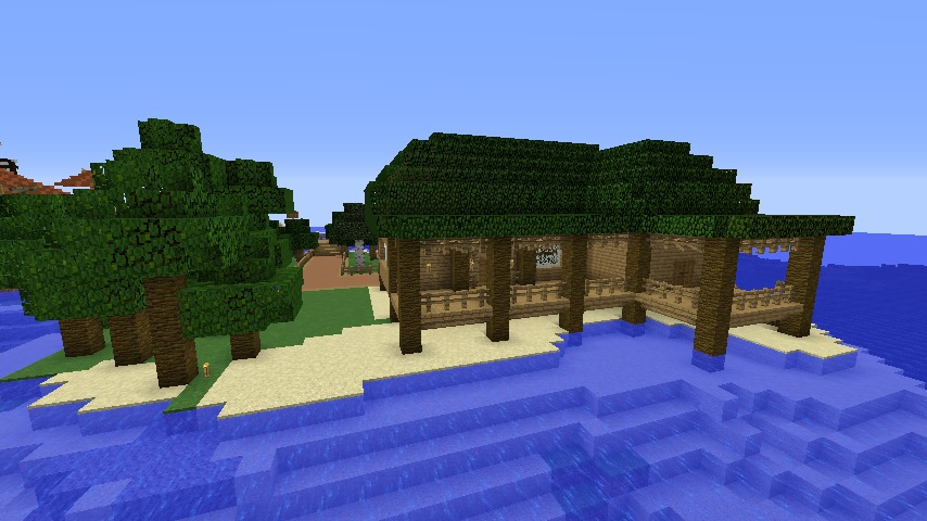 Minecrafterししゃもがマインクラフトで海辺の別荘をリフォームする6