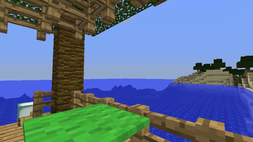 Minecrafterししゃもがマインクラフトで海辺の別荘をリフォームする11