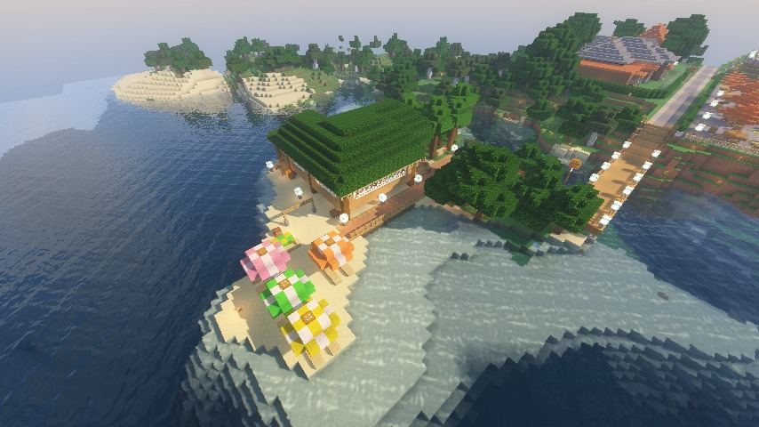 Minecrafterししゃもがマインクラフトで海辺の別荘をリフォームする12