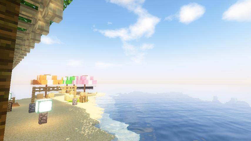 Minecrafterししゃもがマインクラフトで海辺の別荘をリフォームする15