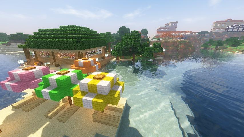 Minecrafterししゃもがマインクラフトで海辺の別荘をリフォームする13