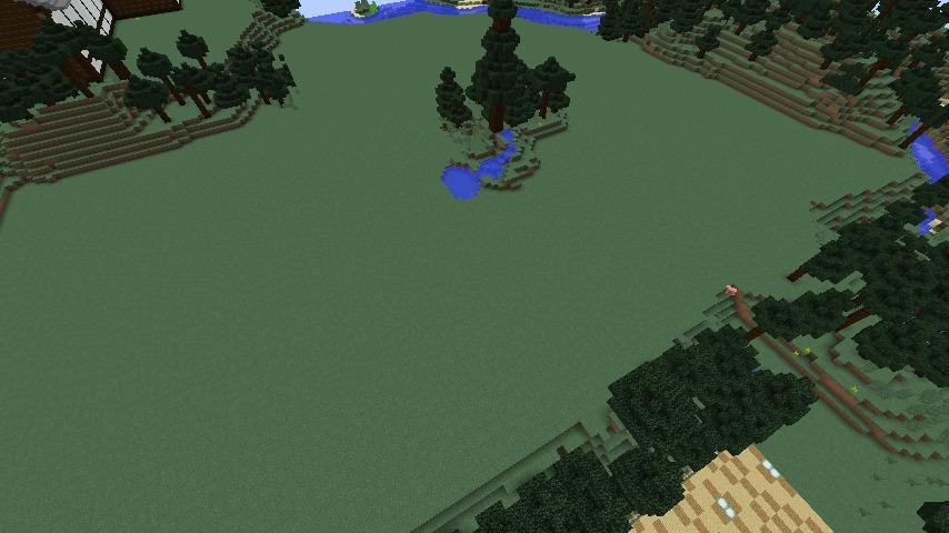 Minecrafterししゃもがマインクラフトでぷっこ村にある金曜日のオレ工場の敷地を彩る5