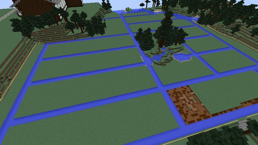 Minecrafterししゃもがマインクラフトでぷっこ村にある金曜日のオレ工場の敷地を彩る6