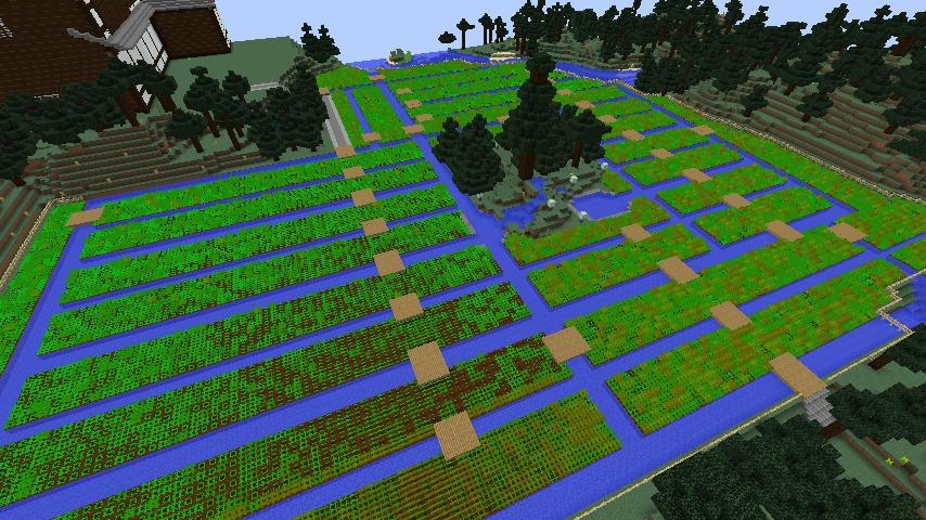 Minecrafterししゃもがマインクラフトでぷっこ村にある金曜日のオレ工場の敷地を彩る7