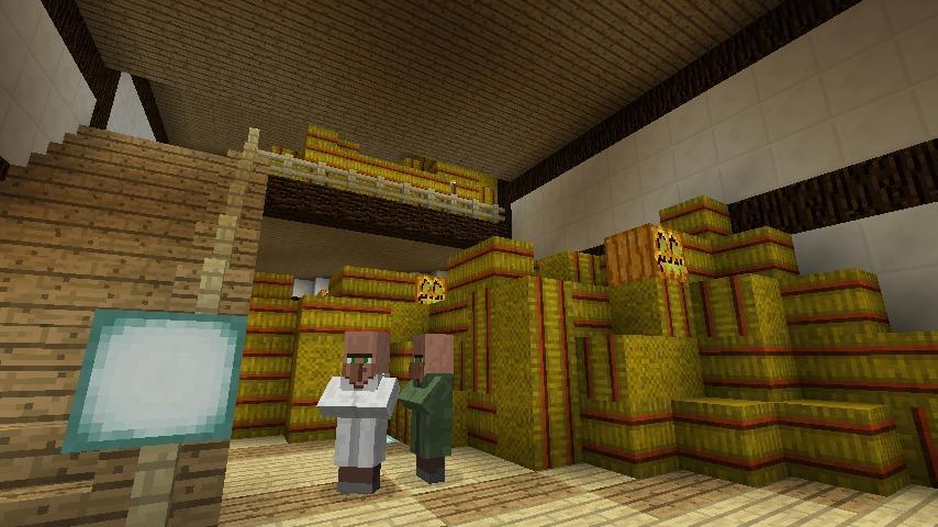 Minecrafterししゃもがマインクラフトでぷっこ村にある金曜日のオレ工場の敷地を彩る13