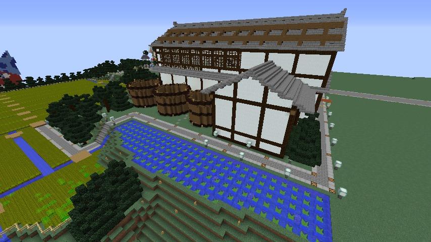 Minecrafterししゃもがマインクラフトで和風建築をして造り酒屋にする9