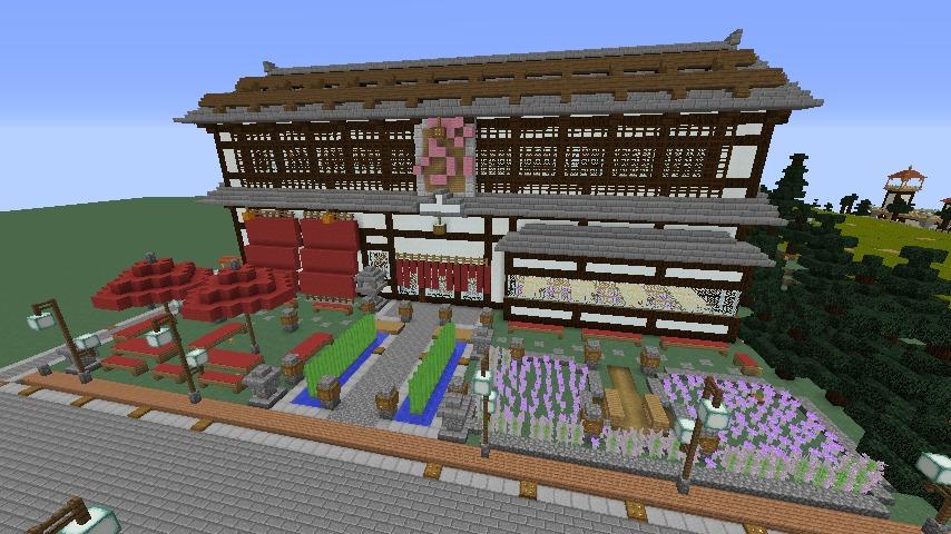 Minecrafterししゃもがマインクラフトで和風建築をして造り酒屋にする6