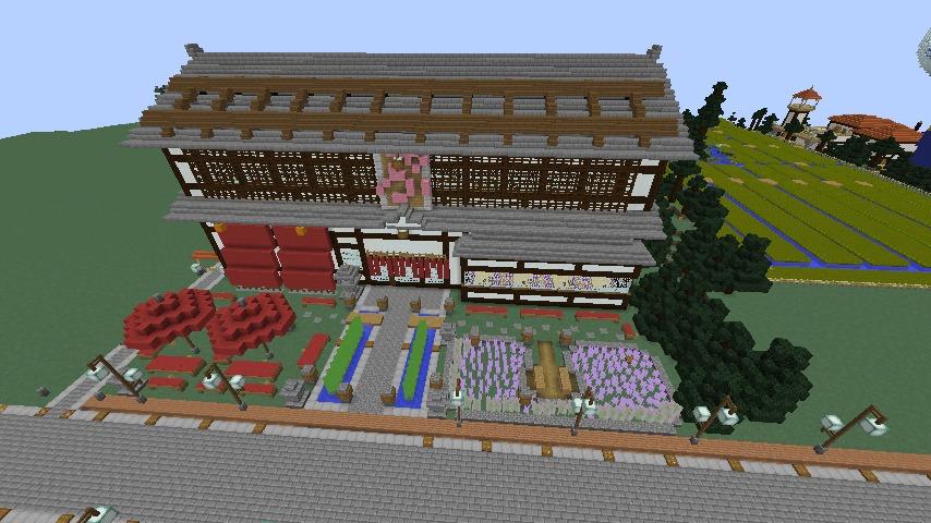 Minecrafterししゃもがマインクラフトでぷっこ村をより良くするための計画と大通りを作る3
