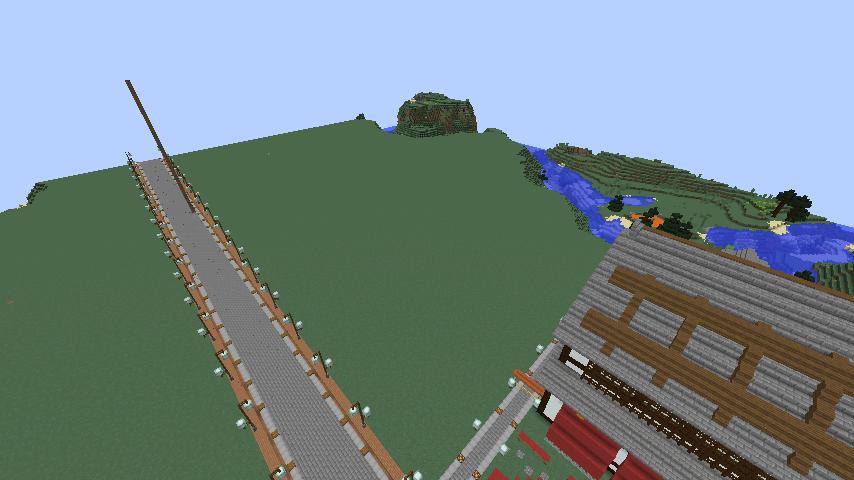 Minecrafterししゃもがマインクラフトでぷっこ村をより良くするための計画と大通りを作る4