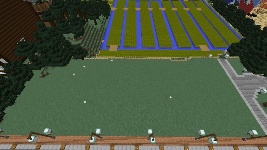 Minecrafterししゃもがマインクラフトで大通りに面した休憩施設を作っちゃう1