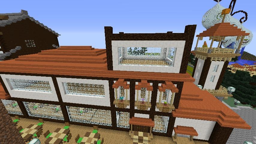 Minecrafterししゃもがマインクラフトで大通りに面した休憩施設を作っちゃう6