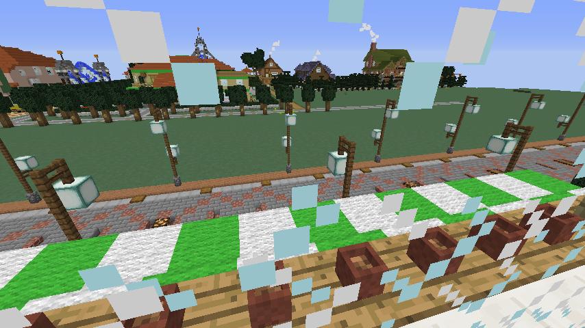 Minecrafterししゃもがマインクラフトで大通りに面した休憩施設を作っちゃう7