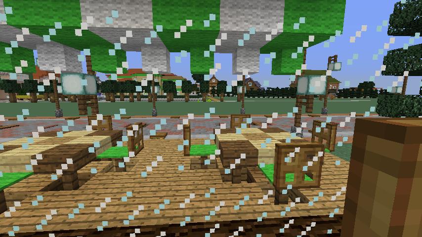 Minecrafterししゃもがマインクラフトで大通りに面した休憩施設を作っちゃう5