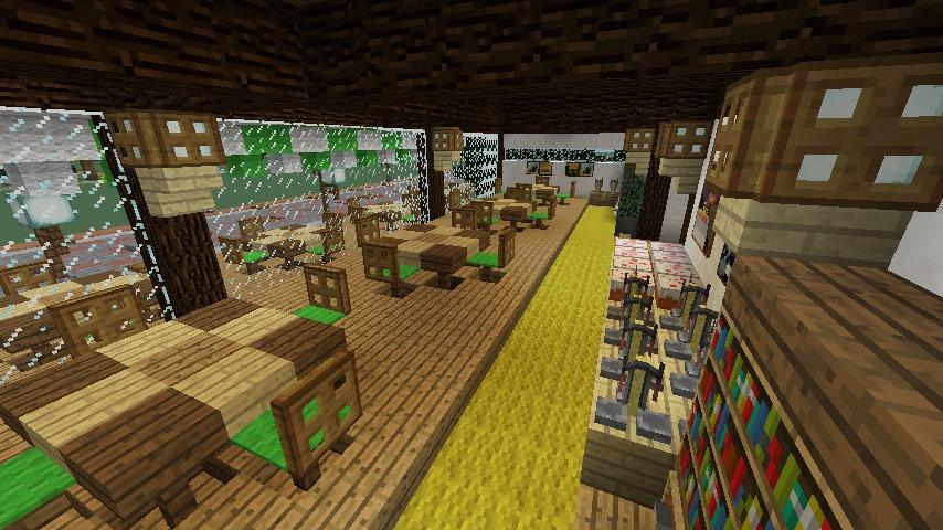 Minecrafterししゃもがマインクラフトで大通りに面した休憩施設を作っちゃう4