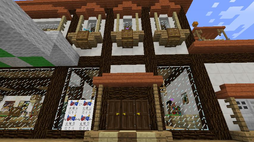 Minecrafterししゃもがマインクラフトで大通りに面した休憩施設を作っちゃう2