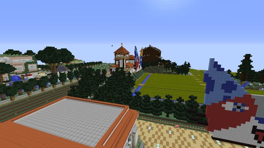 Minecrafterししゃもがマインクラフトで大通りに面した休憩施設を作っちゃう9