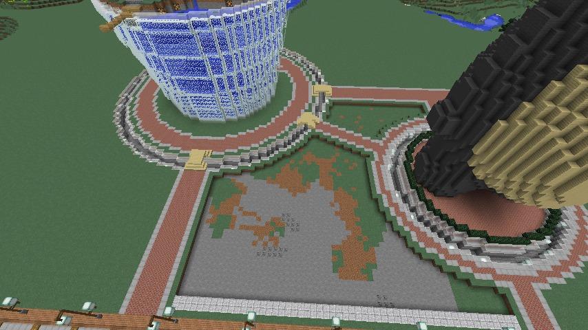 Minecrafterししゃもがマインクラフトでステキな広場を作る4