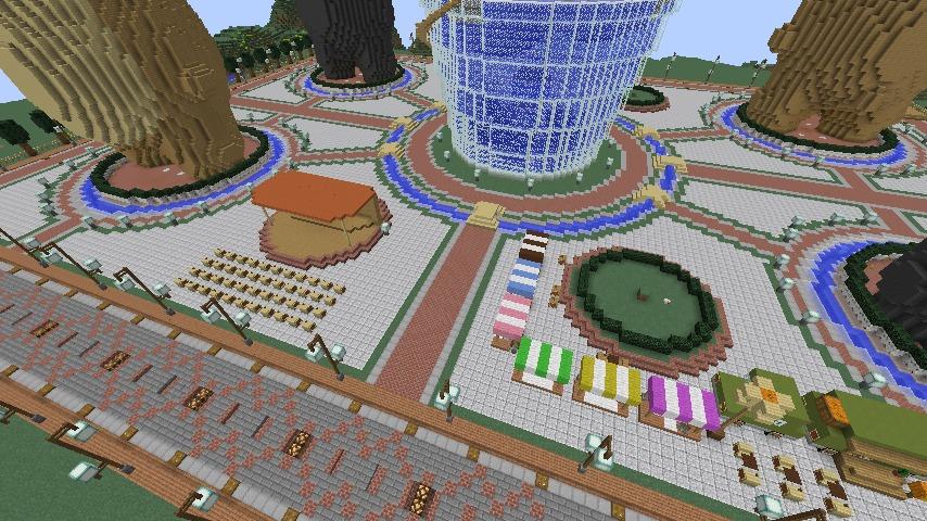 Minecrafterししゃもがマインクラフトでステキな広場を作る7