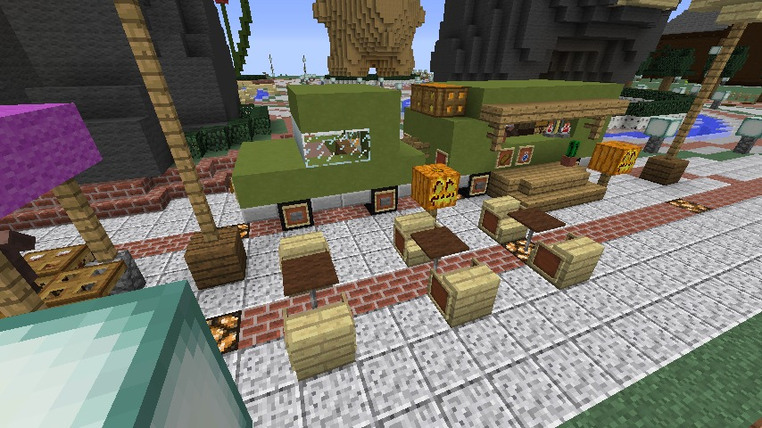 Minecrafterししゃもがマインクラフトでステキな広場を作る10