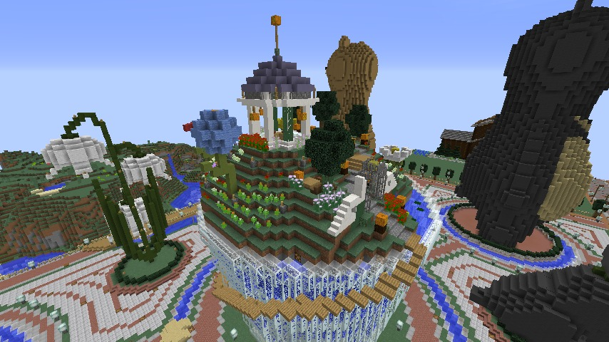 Minecrafterししゃもがマインクラフトでステキな広場を作る12