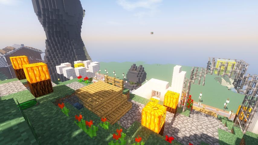 Minecrafterししゃもがマインクラフトでステキな広場を作る21