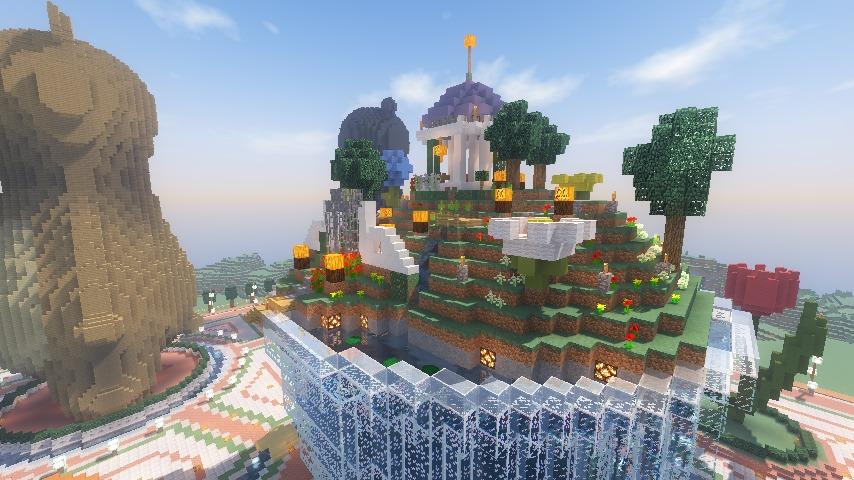 Minecrafterししゃもがマインクラフトでステキな広場を作る16