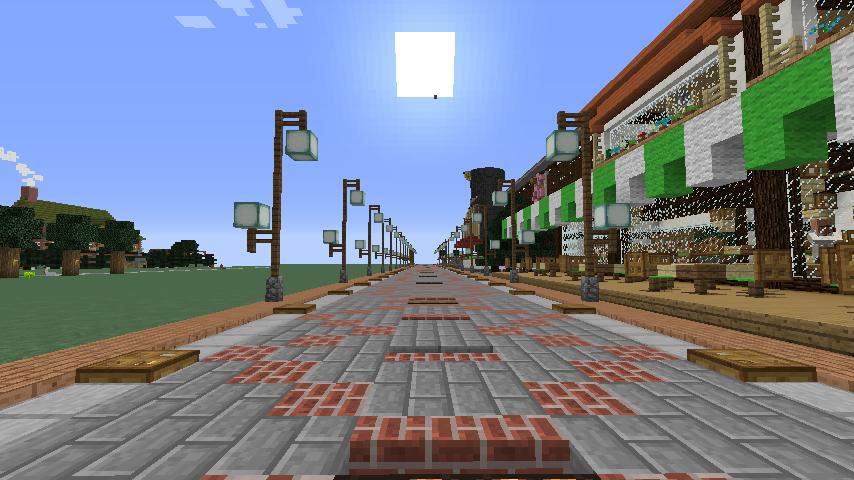 Minecrafterししゃもがマインクラフトでぷっこ村をより良くするための計画と大通りを作る7