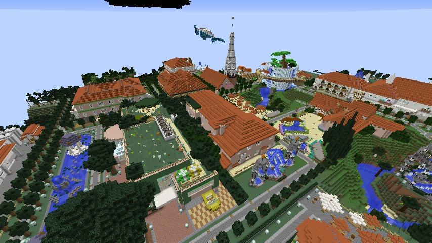Minecrafterししゃもがマインクラフトでぷっこ村をより良くするための計画と大通りを作る8
