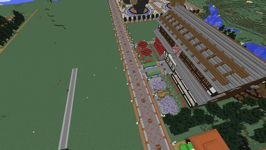 Minecrafterししゃもがマインクラフトでぷっこ村をより良くするための計画と大通りを作る5