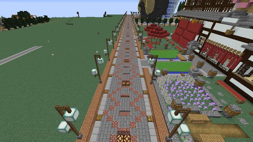 Minecrafterししゃもがマインクラフトでぷっこ村をより良くするための計画と大通りを作る6