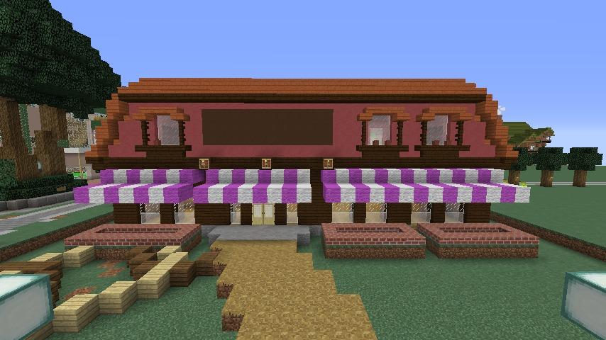Minecrafterししゃもがマインクラフトでぷっこ村にシャトレーゼ丸パクリのお菓子屋プコレーゼを作る4