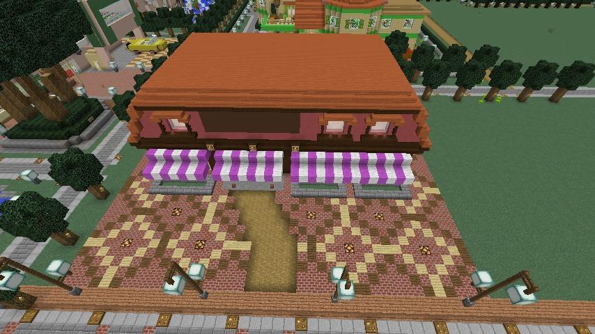 Minecrafterししゃもがマインクラフトでぷっこ村にシャトレーゼ丸パクリのお菓子屋プコレーゼを作る7