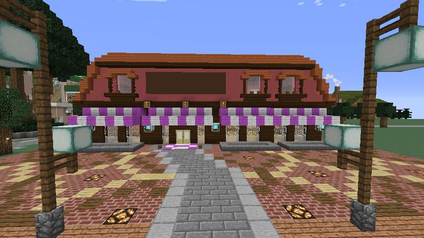 Minecrafterししゃもがマインクラフトでぷっこ村にシャトレーゼ丸パクリのお菓子屋プコレーゼを作る6