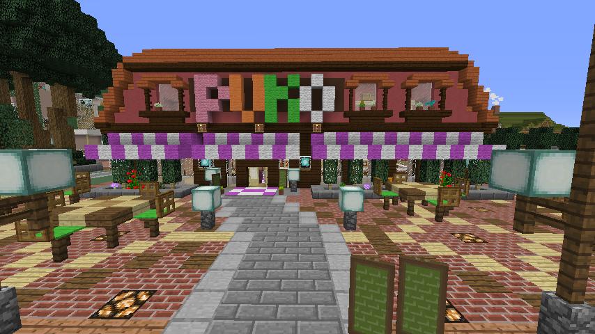 Minecrafterししゃもがマインクラフトでぷっこ村にシャトレーゼ丸パクリのお菓子屋プコレーゼを作る8