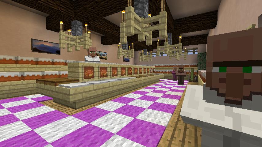 Minecrafterししゃもがマインクラフトでぷっこ村にシャトレーゼ丸パクリのお菓子屋プコレーゼを作る9