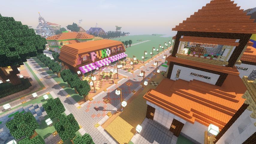 Minecrafterししゃもがマインクラフトでぷっこ村にシャトレーゼ丸パクリのお菓子屋プコレーゼを作る14