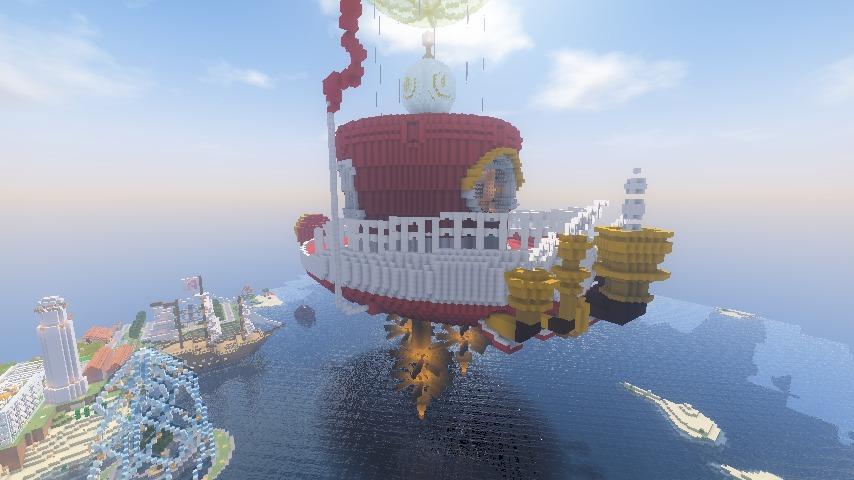 Minecrafterししゃもがマインクラフトでぷっこ村にスーパーマリオオデッセイのオデッセイ号を再現する5
