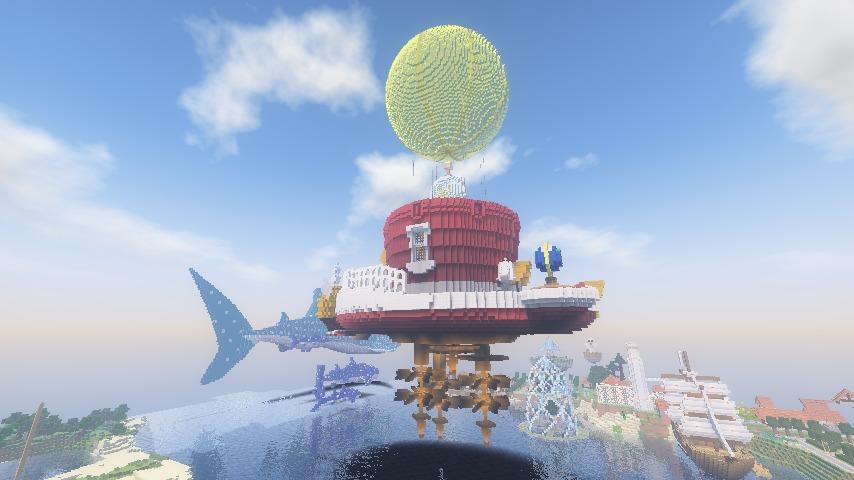 Minecrafterししゃもがマインクラフトでぷっこ村にスーパーマリオオデッセイのオデッセイ号を再現する3