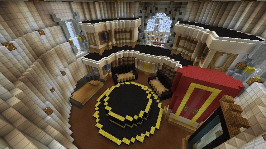 Minecrafterししゃもがマインクラフトでぷっこ村にスーパーマリオオデッセイのオデッセイ号を再現する9
