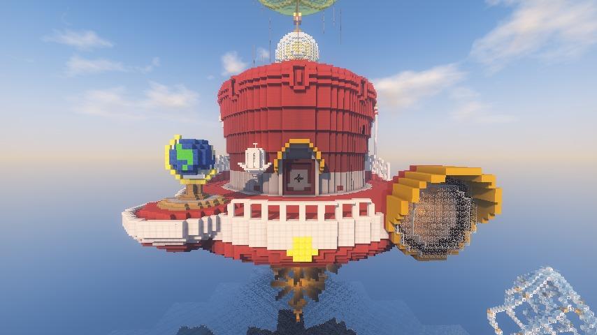 Minecrafterししゃもがマインクラフトでぷっこ村にスーパーマリオオデッセイのオデッセイ号を再現する1