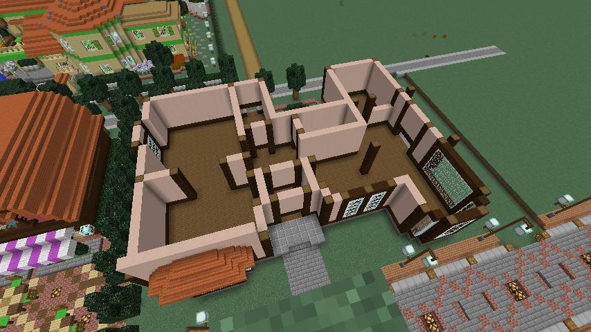 Minecrafterししゃもがマインクラフトでぷっこ村に服屋を作る3
