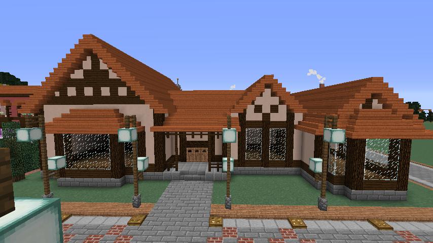 Minecrafterししゃもがマインクラフトでぷっこ村に服屋を作る6