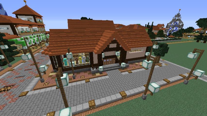 Minecrafterししゃもがマインクラフトでぷっこ村に服屋を作る8