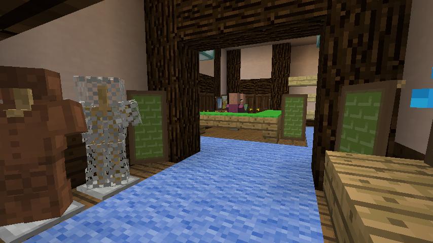 Minecrafterししゃもがマインクラフトでぷっこ村に服屋を作る4