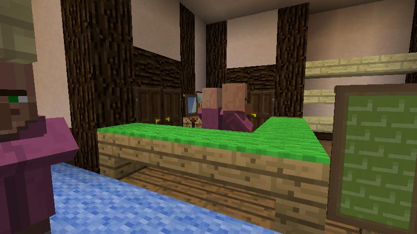 Minecrafterししゃもがマインクラフトでぷっこ村に服屋を作る5